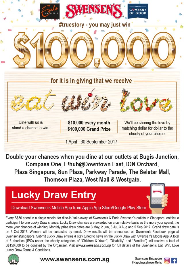 Eat, Win, Love Lucky Draw