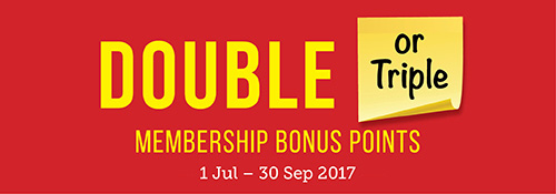 Double Membership Bonus Points